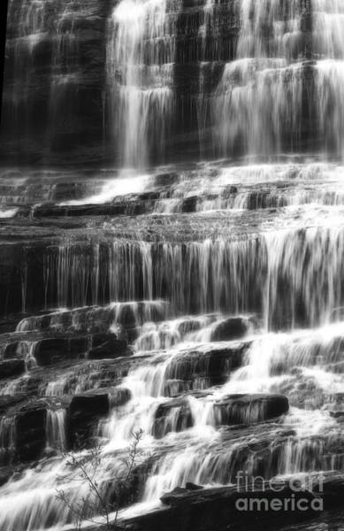 Photograph - Black And White Waterfall by Jill Lang