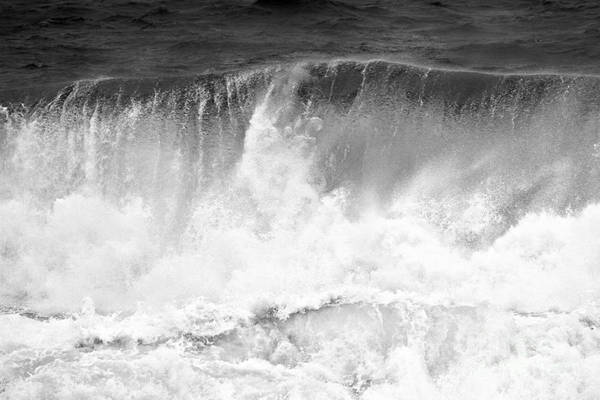 Photograph - Black And White Wave Succession by Adam Jewell