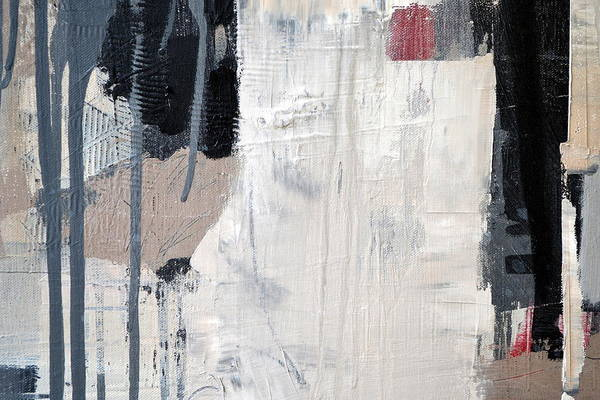 Painting - Black And White With Drips by Michelle Calkins
