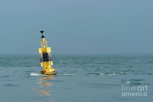 Photograph - Black And Yellow Buoy  by Clayton Bastiani