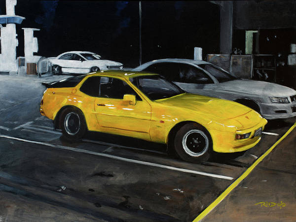 Painting - Black And Yellow by Christopher Reid