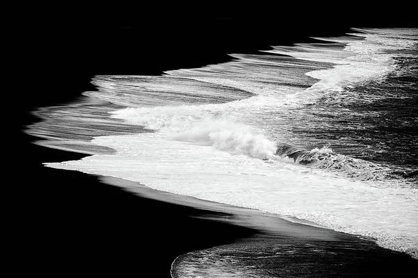 Photograph - Black Beach And The Water Of The Ocean by Matthias Hauser
