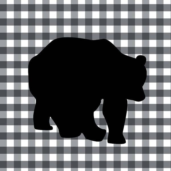 Country Living Digital Art - Black Bear by Linda Woods