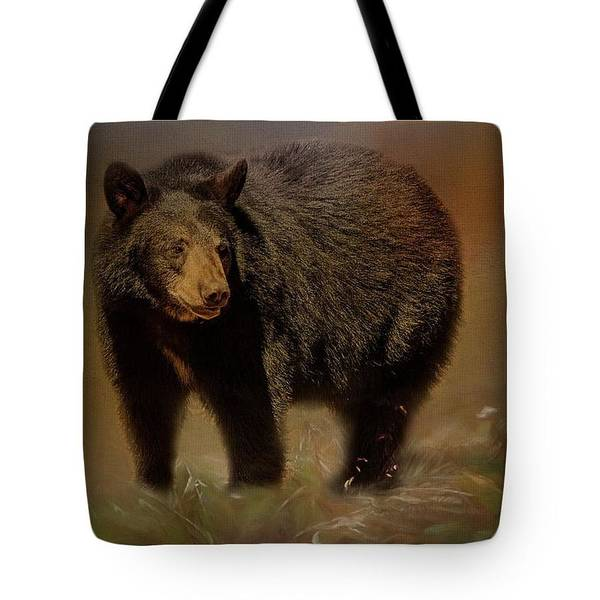 Photograph - Black Bear Tote by Teresa Wilson
