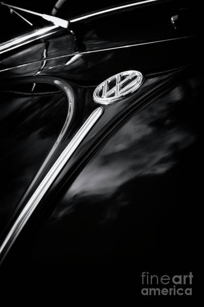 Vw Emblem Photograph - Black Beetle Abstract by Tim Gainey