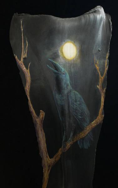 Painting - Black Bird 1968 by Nancy Lauby