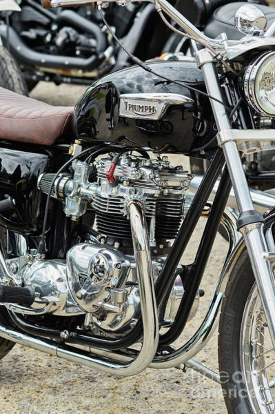 Photograph - Black Bonneville by Tim Gainey