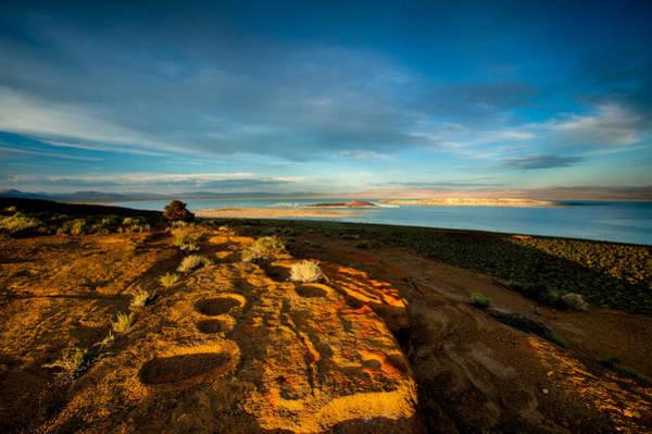 Orange Lichen Photograph - Black Butte Sunset by Dan Holmes