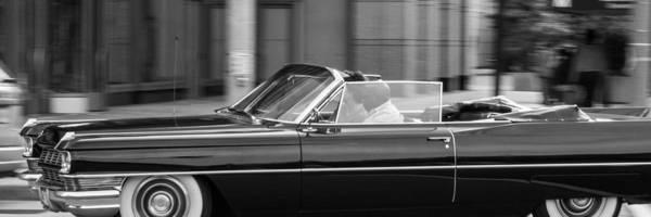 Photograph - Black Cadillac Convertible by SR Green