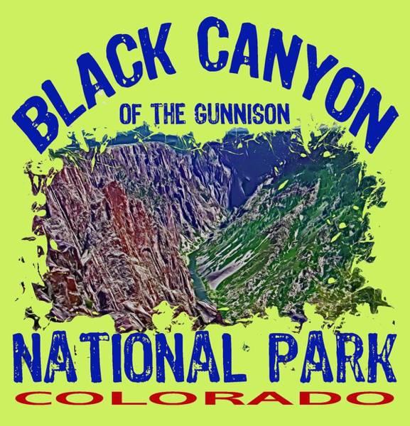 Wall Art - Digital Art - Black Canyon Of The Gunnison National Park by David G Paul