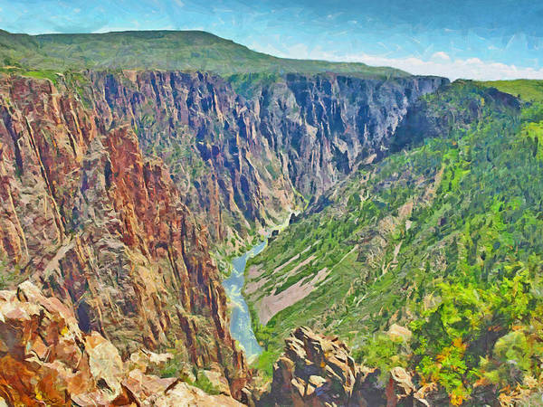 Digital Art - Black Canyon Of The Gunnison National Park by Digital Photographic Arts