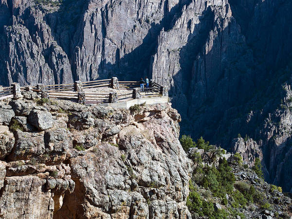 Wall Art - Photograph - Black Canyon Of The Gunnison National Park Overlook - Colorado by Brendan Reals