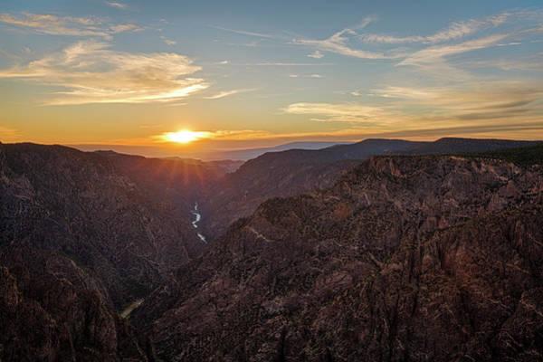 Photograph - Black Canyon Sunburst by Denise Bush