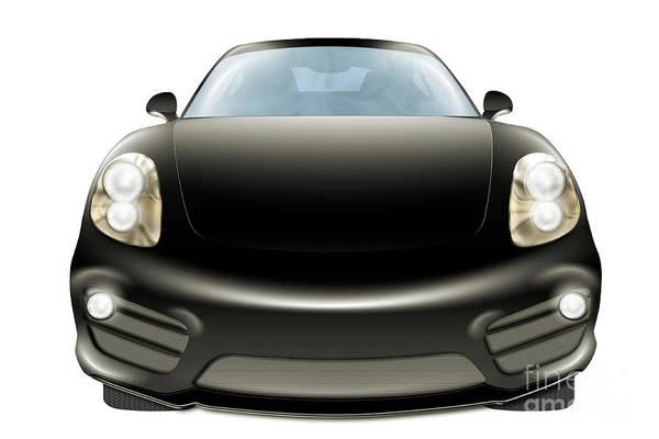 Digital Art - Black Car by Benny Marty