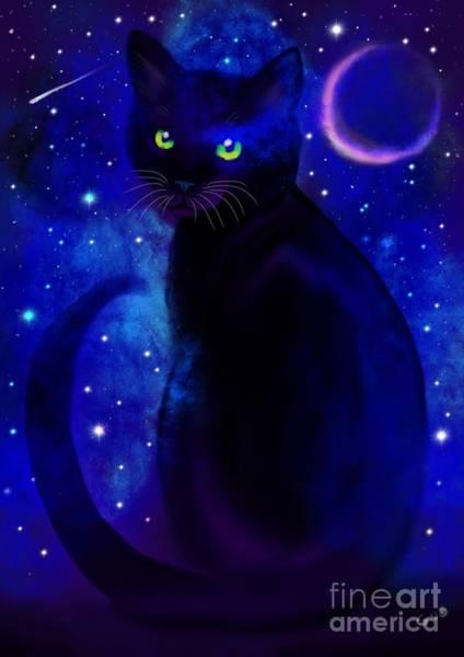 Wall Art - Painting - Black Cat Blues  by Nick Gustafson