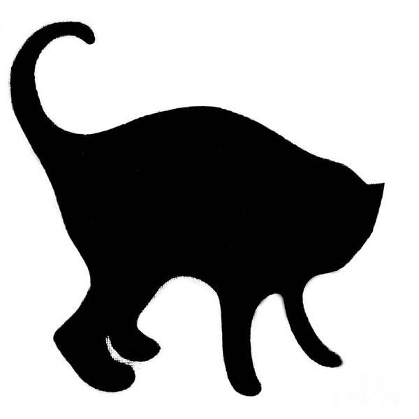 Digital Art - Black Cat by Helena Tiainen