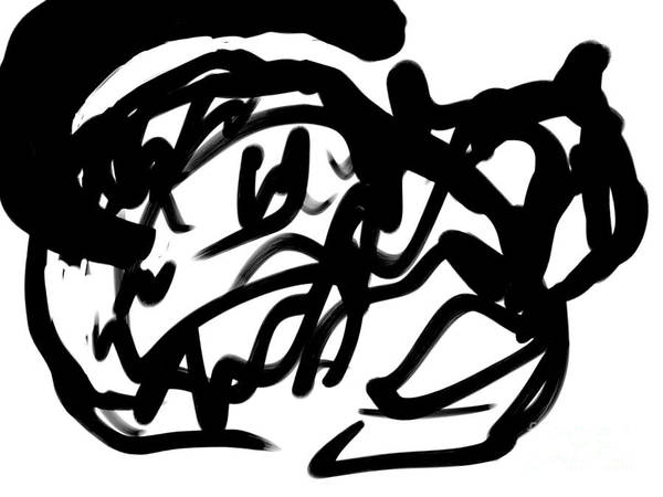 Digital Art - Black Cat by Paul Ramnora
