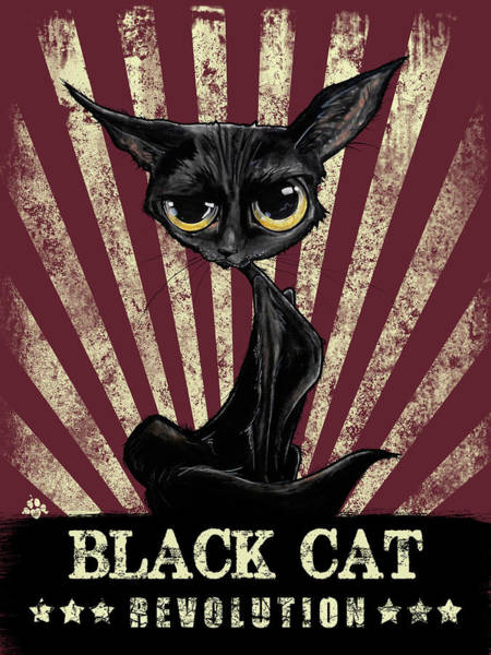 Black Cat Revolution Art Print