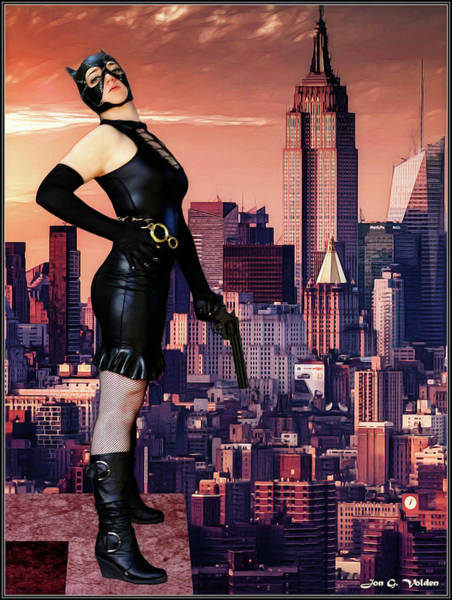 Photograph - Black Cat Saves The City by Jon Volden