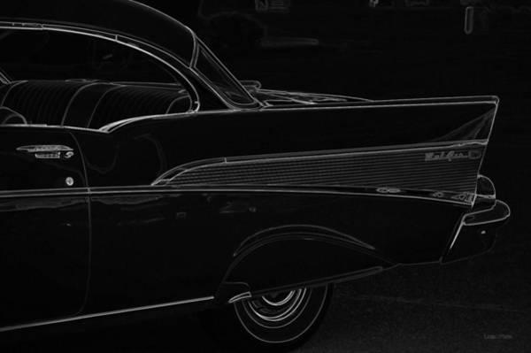 Photograph - Black Chevy Bel Air Finline Art by Lesa Fine