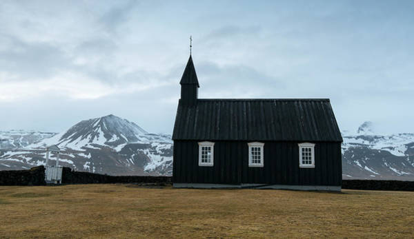 Wall Art - Photograph - Black Church Of Budir, Iceland by Michalakis Ppalis