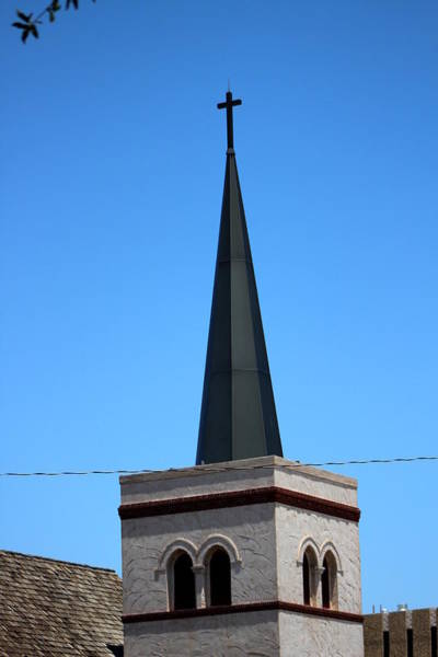 Photograph - Black Church Steeple In Roswell by Colleen Cornelius