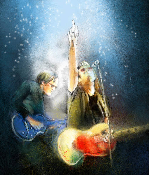 Glenn Hughes Painting - Black Country Communion 02 by Miki De Goodaboom