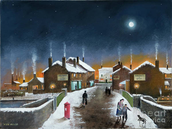Painting - Black Country Winter by Ken Wood