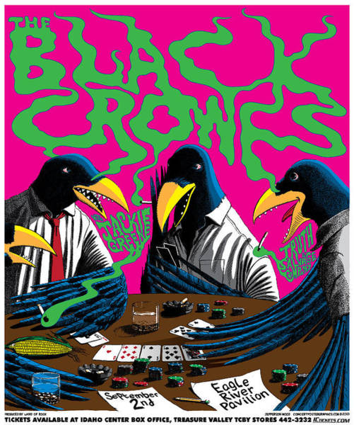 Black Crowes Wall Art - Mixed Media - Black Crowes 2010 Tour Poster by Jefferson Wood