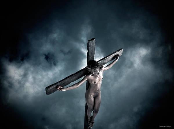 Black Crucified Jesus Art Print