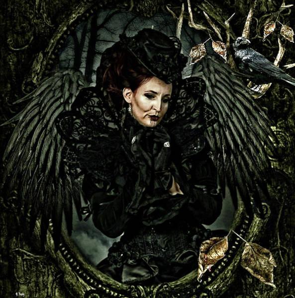 Desire Mixed Media - Black Dahlia by G Berry