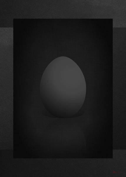 Digital Art - Black Egg On Black Canvas  by Serge Averbukh