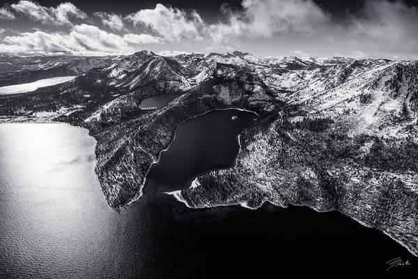 Fallen Leaf Lake Photograph - Black Emerald - Limited Edition by Brad Scott
