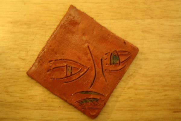 Ceramic Art - Black Eye - Tile by Gloria Ssali