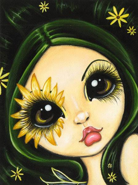 Wall Art - Painting - Black-eyed Susan by Elaina  Wagner