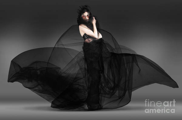 Avant Garde Photograph - Black Fashion The Dark Movement In Motion by Jorgo Photography - Wall Art Gallery
