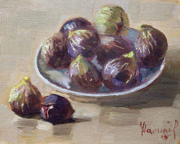 Wall Art - Painting - Black Figs by Ylli Haruni