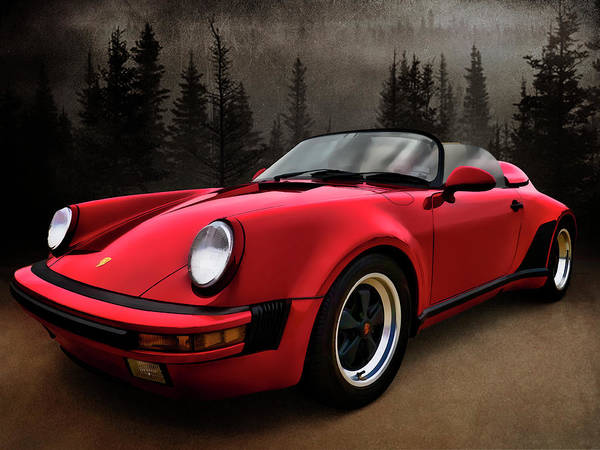 Wall Art - Digital Art - Black Forest - Red Speedster by Douglas Pittman