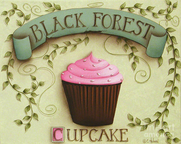 Icing Painting - Black Forest Cupcake by Catherine Holman