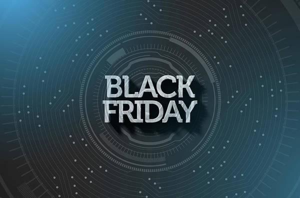 Black Friday Wall Art - Digital Art - Black Friday Text On Black by Allan Swart