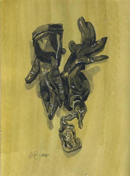 Painting - Black Gloves And Bibelot. Paradox Still Life by Igor Sakurov