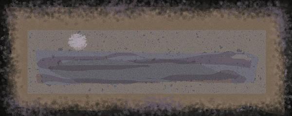 Digital Art - Black Grey Tan Landscape by Anne Cameron Cutri