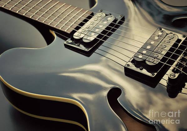 Wall Art - Photograph - Black Guitar by Lyn Randle