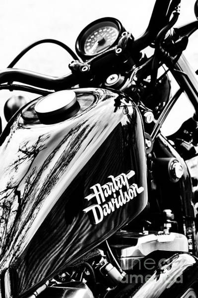 Harley Davidson Black And White Wall Art - Photograph - Black Harley by Tim Gainey