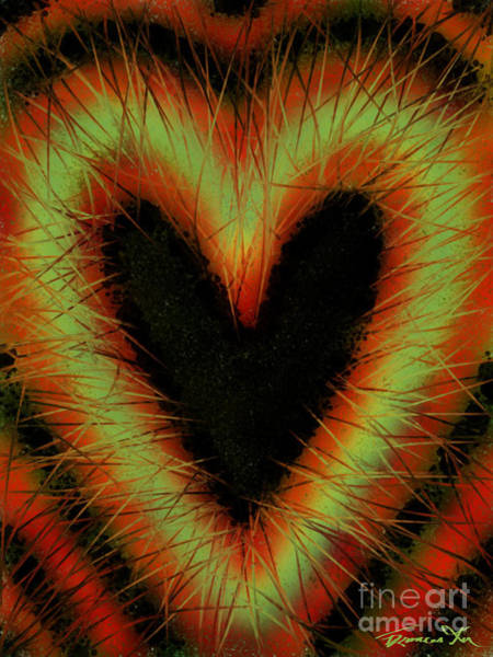 Painting - Black Heart by Frances Ku