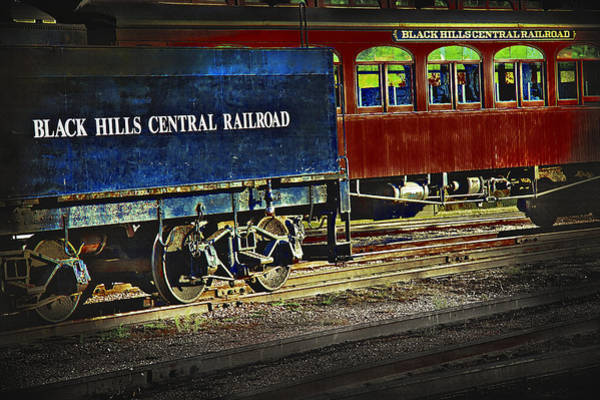 Wall Art - Photograph - Black Hills Central Railroad 3 - Lomo Style by Steve Ohlsen