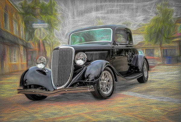 Photograph - Black Hot Rod by Bill Posner