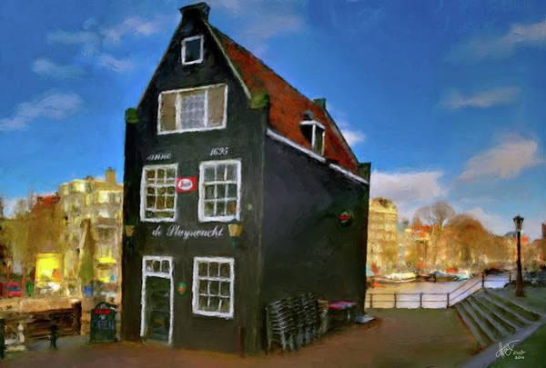 Houseboat Photograph - Black House In Jodenbreestraat #1. Amsterdam by Juan Carlos Ferro Duque