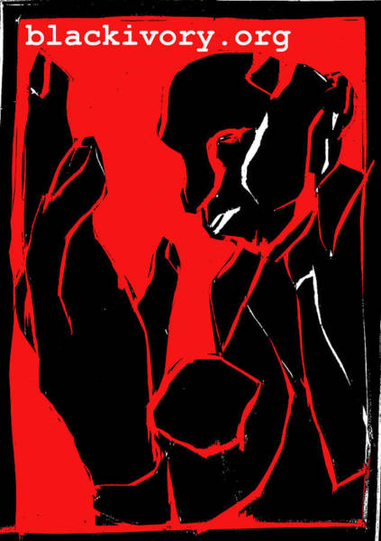 Digital Art - Black Ivory Black And Red Series - Man And Hand by Artist Dot