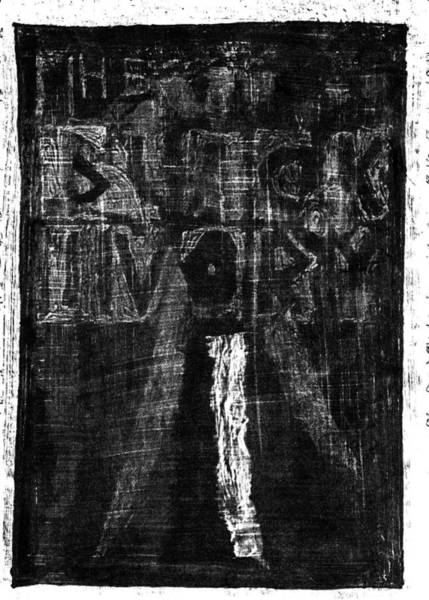Drawing - Black Ivory Issue 1 Back Cover by Artist Dot